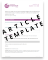 Article Submission Template